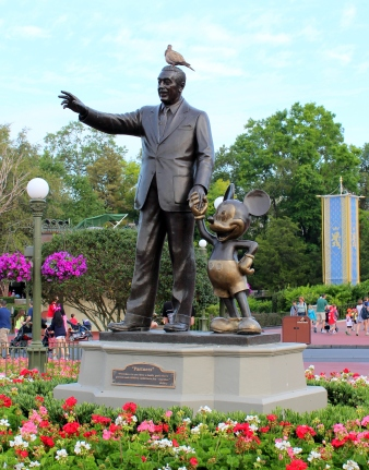 Here is a picture of a pidgeon on Walt Disney's head.  Because . . . why not.